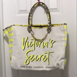 VS yellow tote with snake print!